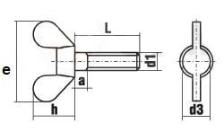 DIN 316 Винт-барашек