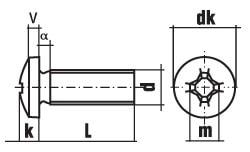 DIN 7985 Винт с цилиндрической скругленной головкой и крестообразным шлицем