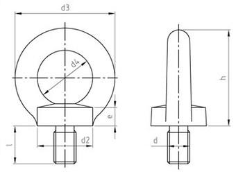 Рым болт DIN 580 с кольцом и буртиком стальной оцинкованный