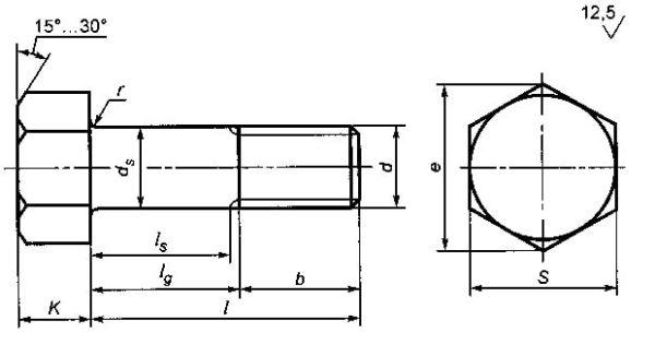 ГОСТ Р 52644-2006 болт высокопрочный с шестигранной головкой