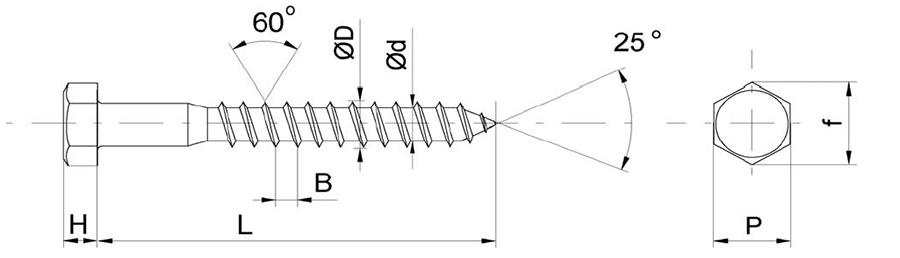 саморез с шестигранной головкой сантехнический