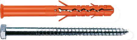MBR-S Дюбель фасадный с шурупом, стандартная зона закрепления