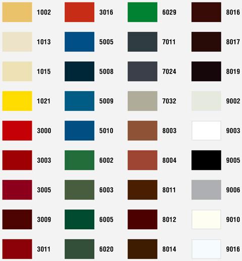 Саморезы для крепления сэндвич панелей окрашенные в цвета RAL в наличии и на заказ